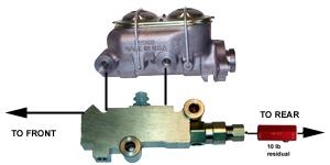typical brake system configurations rh mbmbrakeboosters com Basic Brake System Diagrams Disc Brake Proportioning Valve Diagram